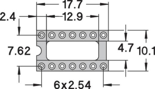 IC foglalat, precíziós, 0,75µM arany bevonattal, 14 pólusú