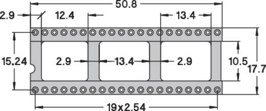 IC foglalat, precíziós, 0,75µM arany bevonattal, 40 pólusú