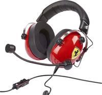 Thrustmaster T.Racing Scuderia Ferrari EDITION Headset játékhoz 3,5 mm-es jack Vezetékes Over Ear Piros Thrustmaster
