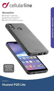 Cellularline Sensation Hátlap P20 Lite Fekete (39899) Cellularline