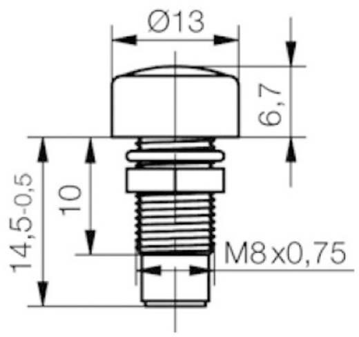 LED foglalat krómozott 5mm SML 1089