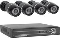 Smartwares 10.100.97 SW430DVR Analóg, AHD Megfigyelő kamera készlet 4 csatornás 4 db kamerával 1280 x 720 pixel 500 GB (SW430DVR) Smartwares