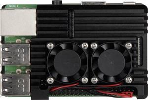 Joy-it Armor Case BLOCK ACTIVE SBC ház Alkalmas: Raspberry Pi Aktív hűtővel Fekete Joy-it