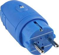 as - Schwabe 62401 Védőérintkezős dugó Gumi 230 V Kék IP44 as - Schwabe