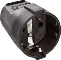 as - Schwabe 45012 Védőérintkezős alj PVC 230 V Fekete IP20 as - Schwabe