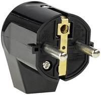 as - Schwabe 45042 Védőérintkezős hajlított dugó PVC 230 V Fekete IP20 as - Schwabe