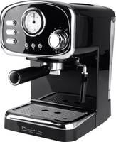 GourmetMaxx Barista Retro Eszpresszó kávéfőző Fekete 1100 W GourmetMaxx