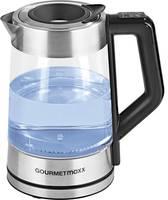 GourmetMaxx Smart Vízforraló Zsinór nélküli, Hőmérséklet előválasztás Üveg , Nemesacél GourmetMaxx