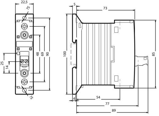 Félvezető kontaktor, védőkapcsoló Sirius 3RF23 Siemens 3RF2310-1AA02 kimenet 10,5 A 24 - 230 V/AC