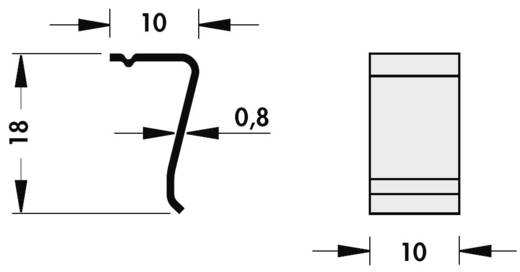 Stranghűtőborda bepattanós tranzisztortartó rugóhoz