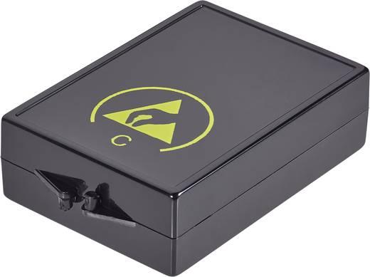 Alkatrésztároló doboz ESD 130 x 14 x 32 mm fekete Wolfgang Warmbier