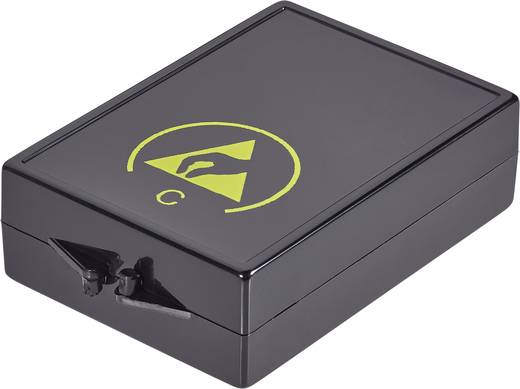 Alkatrésztároló doboz ESD 70 x 14 x 45 mm fekete Wolfgang Warmbier