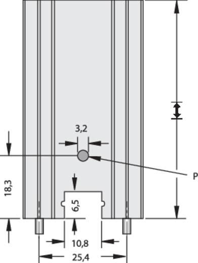 Hűtőborda 14 K/W 34,9 x 25,4 x 12,7 mm TO-220, Fischer Elektronik SK 104 25,4 STC-220 + THF 104