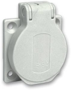Schneider Electric 1 részes Komplett Védőérintkezős dugalj ráhajtható fedéllel Szürke PKS51G Schneider Electric
