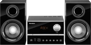 Sztereo berendezés AUX, CD, URH, USB, 2 x 15 W fekete Karcher MC 6445 Karcher