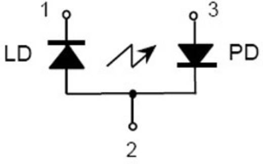 Lézerdióda, 10mW, 780nm, piros, QL78F6S-A