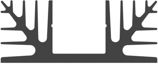 Hűtőborda 2,8 K/W 37 x 88 x 35 mm, Fischer Elektronik SK 08 37,5 SA
