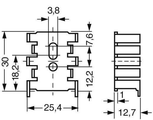 Hűtőborda 15 K/W 34 x 25,4 x 12,7 mm SOT-32 TO-220, Fischer Elektronik FK 216 SA-CB