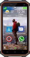 beafon X5 LTE outdoor okostelefon 16 GB 5 coll (12.7 cm) Dual-SIM Saját gyári Fekete, Narancs beafon