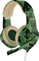 Trust GXT310C Radius Jungle Camo Headset játékhoz 3,5 mm-es jack Vezetékes On Ear Terepszínű Trust