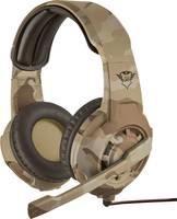 Trust GXT310D Radius Desert Camo Headset játékhoz 3,5 mm-es jack Vezetékes On Ear Barna Trust