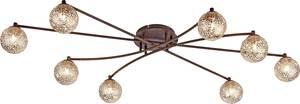Mennyezeti lámpa LED, Halogén G9 320 W Paul Neuhaus GRETA 6225-48 Rozsda, Arany Paul Neuhaus