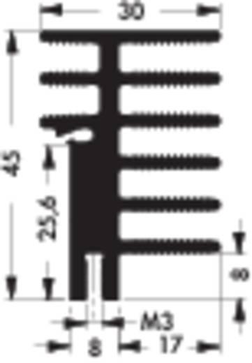 Hűtőborda 4,2 K/W 50 x 30 x 45 mm, Fischer Elektronik SK 481 50 SA + 2x THFU 2
