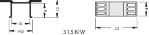 Hűtőborda 25 K/W 13 x 23 x 10 mm D-PAK, TO-252, TO-268, SOT-669, SO-14, SO-16, SOT-223, Fischer Elektronik FK 244 13 D