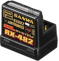 4 csatornás vevő SANWA RX-482 2,4 GHz Dugaszoló rendszer JR (SAN-107A41257A) SANWA