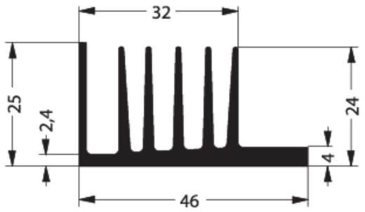 Hűtőborda 3,7 K/W 50 x 46 x 25 mm TO-220 TO-126, Fischer Elektronik SK 107 50 SA