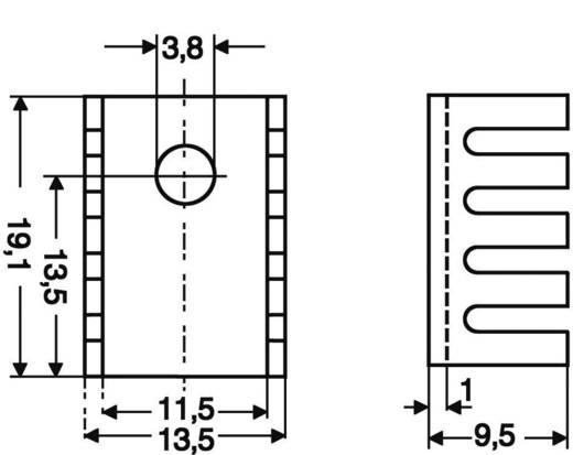 Hűtőborda 45 K/W 19,1 x 13,5 x 9,5 mm SOT-32 TO-220, Fischer Elektronik FK 231 SA-220