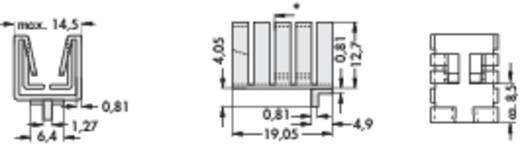 Hűtőborda 21 K/W 19 x 14,5 x 12,7 mm TO-220, Fischer Elektronik FK 237 SA-220 H