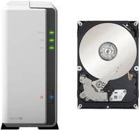Synology DiskStation DS119j-3TB-FR NAS szerver 3 TB 1 rekesz 1 db 3TB-os újrahitelesített merevlemezzel felszerelve Synology