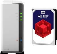 Synology DiskStation DS119j DS119J-2TB-RED NAS szerver 2 TB 1 rekesz WD RED-del felszerelve Synology