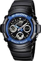 Casio Kronográf Karóra AW-591-2AER (H x Sz x Ma) 52 x 46.4 x 14.9 mm Kék, Fekete Ház anyaga=Nemesacél, Műgyanta Anyag (k Casio