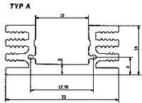 Hűtőborda 4,5 K/W 50 x 32 x 14 mm TO-220 TO-126, Fischer Elektronik SK 75 50 SA (10022554) Fischer Elektronik
