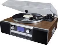 soundmaster PL905 USB-s lemezjátszó Ékszíjhajtás Fa (PL905) soundmaster