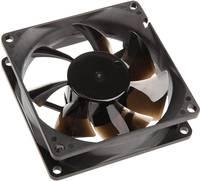 NoiseBlocker P-1 Számítógépház ventilátor Fekete (Sz x Ma x Mé) 80 x 80 x 25 mm NoiseBlocker