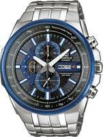 Casio Kronográf Karóra EFR-549D-1A2VUEF (H x Sz x Ma) 56.9 x 50.3 x 12.9 mm Ezüst, Kék Ház anyaga=Nemesacél Anyag (karpá (EFR-549D-1A2VUEF) Casio