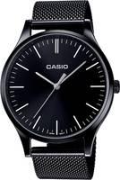 Casio Kvarc Karóra LTP-E140B-1AEF (H x Sz x Ma) 46 x 38 x 7.4 mm Fekete Ház anyaga=Nemesacél Casio