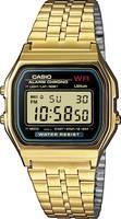 Casio Kvarc Karóra A159WGEA-1EF (H x Sz x Ma) 36.8 x 32.2 x 8.2 mm Arany Ház anyaga=Műgyanta Anyag (karpánt)=Nemesacél Casio