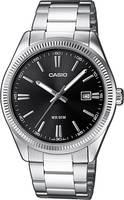 Casio Kvarc Karóra MTP-1302PD-1A1VEF (H x Sz x Ma) 44.2 x 38.5 x 9.2 mm Ezüst Ház anyaga=Sárgaréz Anyag (karpánt)=Nemesa Casio