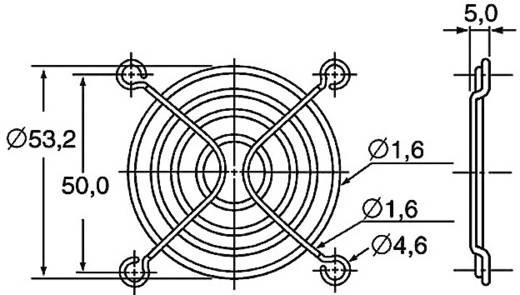 Ventilátor védőrács, Panasonic ASFN68001 (Sz x Ma) 60 mm x 60 mm