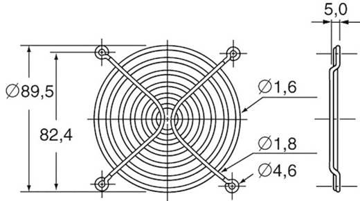 Ventilátor védőrács, Panasonic ASFN98001 (Sz x Ma) 92 mm x 92 mm