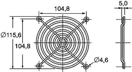 Ventilátor védőrács, Panasonic ASFN18001 (Sz x Ma) 120 mm x 120 mm