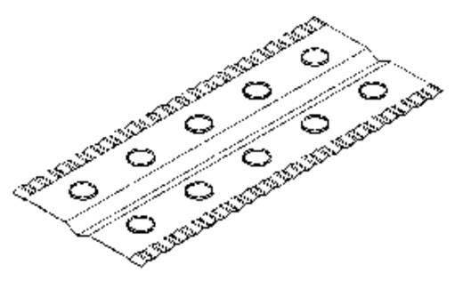 Hűtőlamella QuickCool QV-FI-130-10-6 (Sz x Ma x Mé) 55 x 130 x 0.3 mm Furat Ø 6 mm