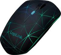 LogiLink ID0172 Bluetooth™ WLAN egér Optikai Világít Fekete LogiLink