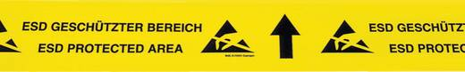 Padlójelölő szalag ESD BJZ C-195 075 (H x Sz) 15 m x 70 mm Sárga