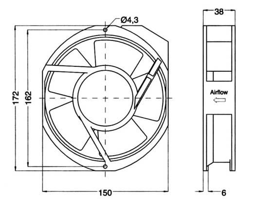Ventilátor, 5915PC-23T-B30-A00 150X172MM 230V