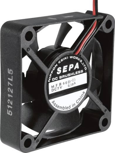 Axiális ventilátor 5 V/DC 25.2 m³/h 60 x 60 x 15 mm SEPA MFB60D05